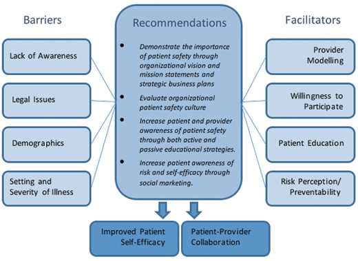 Figure 1. Proposed framework for patient engagement in patient safety