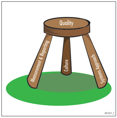 Figure 2. The Three-Legged Stool of Quality Care